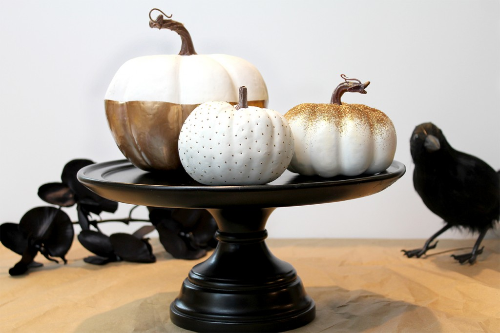 Glam Gold & White Pumpkins