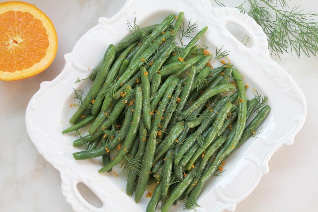 Orange & Dill Green Beans