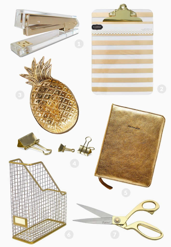 Currently Loving: Gold Office Supplies