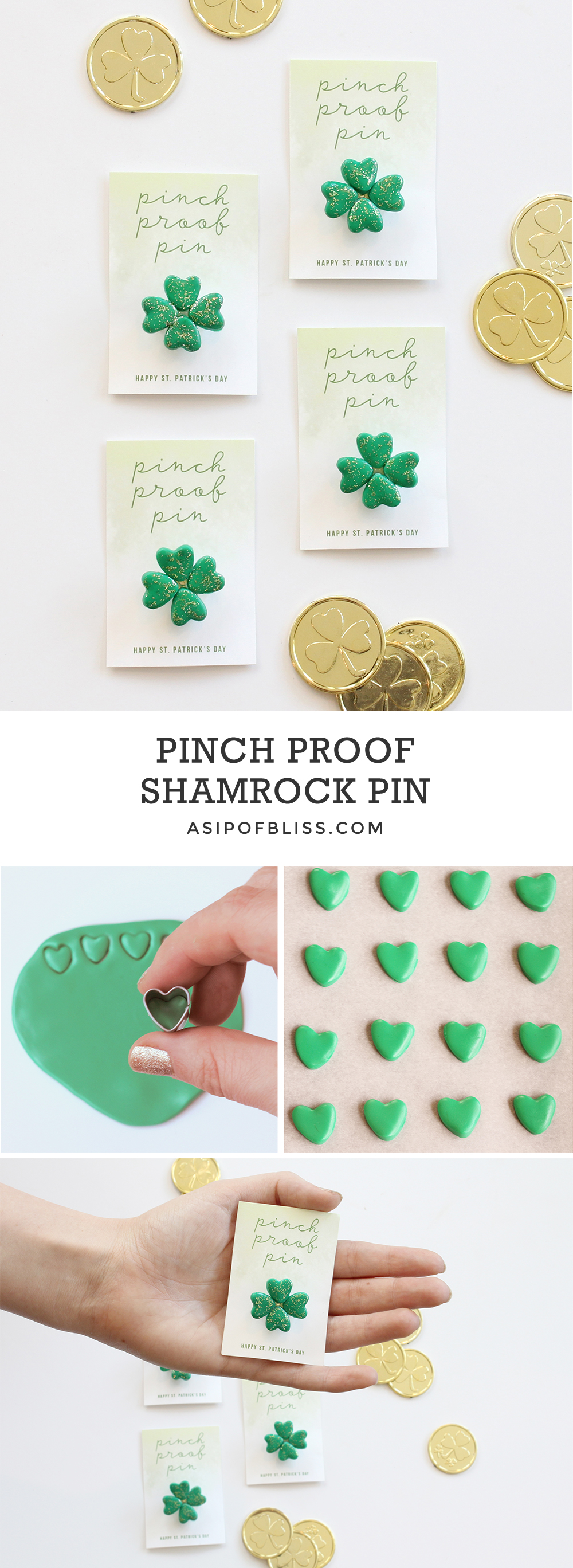 Pinch Proof Shamrock Pin | A Sip of Bliss