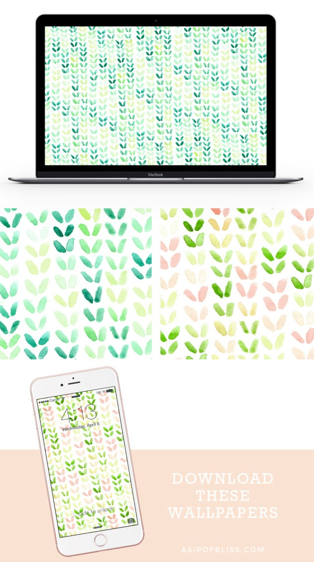 Spring Watercolor Wallpaper {FREE DOWNLOAD} | A Sip of Bliss