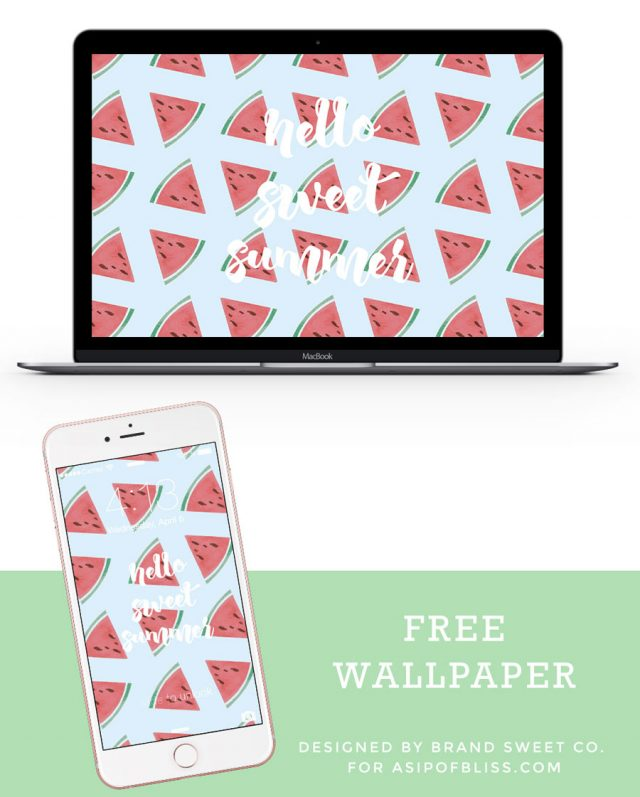 Summer Watermelon Wallpaper {FREE DOWNLOAD} | A Sip of Bliss