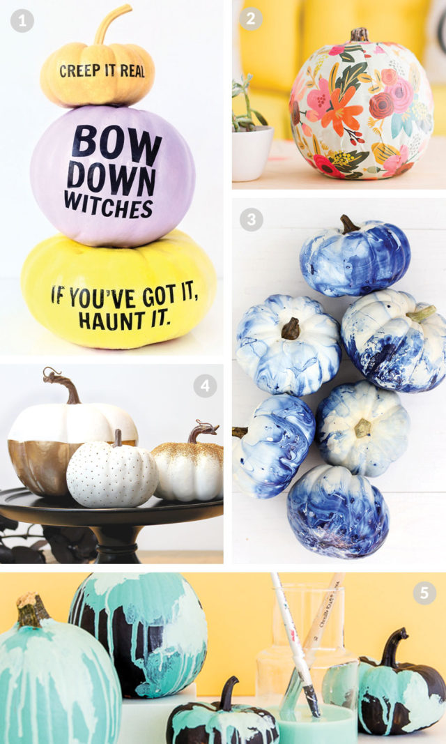DIY No-Carve Pumpkins to Try