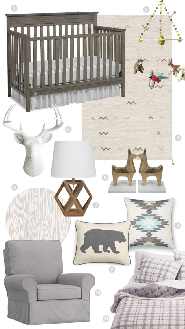 Neutral Woodland Nursery Inspiration  |  A Sip of Bliss